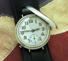 Men's CRISP World War I Era Misc. Swiss Hunter Cased Wristwatch - SERVICED