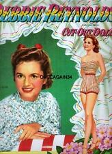Vintage Uncut 1953 Debbie Reynolds Paper Dolls~#1 Reproduction~Gorgeous/Cla ssic