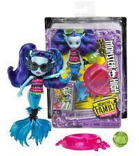 """Monster High Monster Family of Lagoona Blue Ebbie Blue 5.5"""" Doll New in Box"""