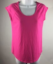 UNDER ARMOUR HEATGEAR Shirt Mesh Keyhole Open Back Women's Pink Size Small