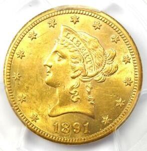 1891-CC Liberty Gold Eagle $10 - PCGS AU Detail - Rare Carson City Coin!