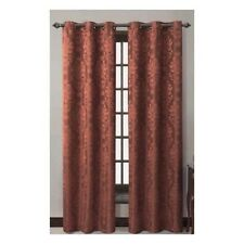"""Victoria Classic Jacquard Riley Polyester Grommet Curtain Panel Maroon 40"""" x 84"""""""