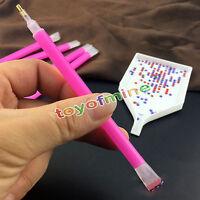 5 Nail Set dual-ended Art strass Gem Picker rosa punteggia la penna del manicure