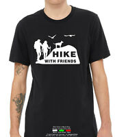 Hike with Friends Camping Travel short sleeve men's T shirt