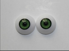22mm Green Cobalt Half Round Acrylic Eyes for Reborn baby /BJD/OOAK Dolls