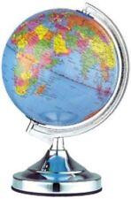 "Desk Top Touch Globe Chrome Table Lamp Bedroom Office World   13"" 32-cm.."