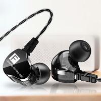 Double Dynamic Earphone Bass In-ear Headset Stereo Earbud Sport Headphone Hot ON