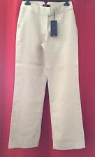 """REDUCED AFTERSHOCK Linen Trousers UK 14 Large Beige  32"""" W 32"""" L Summer Holiday"""