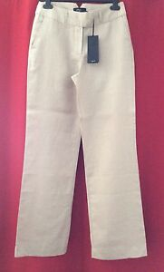 """REDUCED! AFTERSHOCK Linen Trousers Medium UK 12 Beige 30"""" W 32"""" L Summer Holiday"""