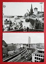 2 X Photo AK Düsseldorf pour 1965 Le Rhin, hauts segment et Thyssen Maison (16975