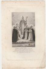 Papa Leone XIII Incisione Originale del 1800 di J. Nicolau