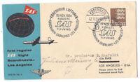 DENMARK SAS Regular Flight Kobenhavn - Los Angeles 1954 Cachet on Cover