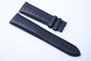 Original LONGINES Uhrenarmband Echt leder 20 mm Band Swiss made Schwarz black