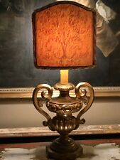 Great Antique Carved Venetian GiltWood Urn Table Lamp