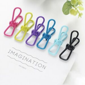 10Pcs Useful Metal Strong Clothing Socks Washing Laundry Clothespin Clip