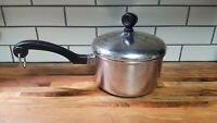 Vintage Farberware 1 Qt Sauce Pan Pot With Lid Stainless Steel Aluminum Clad