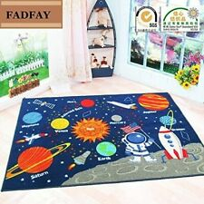 Outer Space Kids Rug Cute For Kids Room Or Play Room