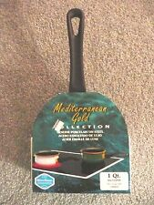 Saucepan 1 qt genuine green porcelain on steel plus cover made in spain New