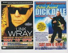 """Dick Dale June 4 2005 Link Wray May 10 2005 Promo Glossy 4"""" x 6"""" Card"""