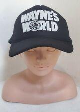 Vintage 90's Wayne's World Hat Snapback Trucker Cap Movie Promo NOS Rare Hat