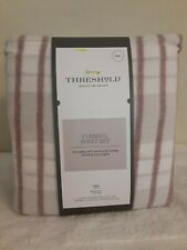 Threshold flannel sheet set  Full Striped purple