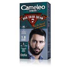 DELIA CAMELEO MEN HAIR BEARD Moustache Dye Colour Cream Cover Grey Hair Full KIT