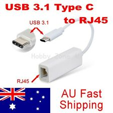 """USB 3.1 Type C to RJ45 Ethernet Lan Adapter for 2015 Chromebook Macbook 12"""" PC"""