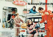PUBLICITE ADVERTISING 115  1971  LA HUTTE  vetements de ski  (2p)