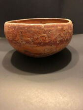 """Pre Columbian Authentic Mayan Painted Copador 7.25"""" X 4.25"""" Over 1,000 Yrs"""