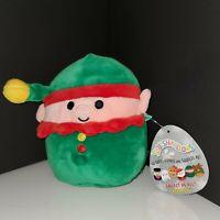 """Squishmallows Elliot the Elf 5"""" Squishmallow Mini Plush Kellytoy HTF RARE NWT"""