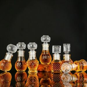 Small Whiskey Scotch Decanter Bottle High Quality Glass Home Fashion Decoration