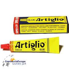 COLLA ADESIVO MASTICE ARTIGLIO PER LEGNO GOMMA CUOIO PLASTICA PVC TESSUTI 75gr