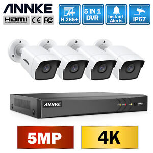 ANNKE 8CH 4K H.265+CCTV DVR 5MP outdoor Night Vision Camera Security Home System