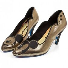 Irregular Choice Gold X Disney Mickey 20s Estilo Tacón Bajo ostentoso UK 5