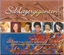 3 CD Vicky Leandros, Lena Valaitis, Andrea von 'Schlager géants' NOUVEAU/Neuf dans sa boîte