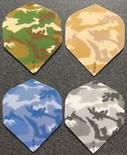 8 Packets of New Ruthless Extra Strong Darts Flights - Camouflage Mega Pack