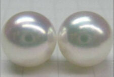 PAIR OF 12MM  HUGE SOUTH SEA GENUINE PERFECT ROUND WHITE LOOSE PEARL UNDRILLED
