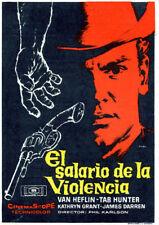 Gunman's walk Tab Hunter vintage western movie poster