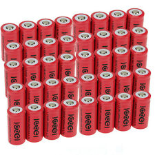 40 x 2400Mah 3.7V 16340 CR123A 123A CR123 Li-ion Rechargeable Battery Cell USA