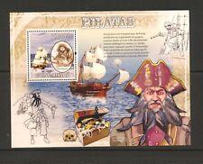 Guinea Bissau 2009 Pirate Blackbeard Mi block 734 Ship MNH