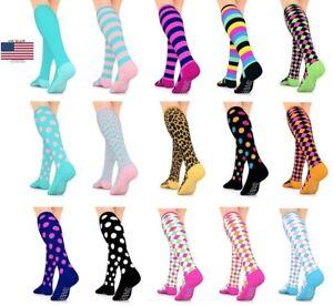 Go2 Compression Socks Fashion Line 15-20 mmHg Women Girls Medium Compression