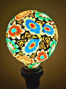 Artistic Printed Decorative LED Bulbs E27, Floral Art Alpha