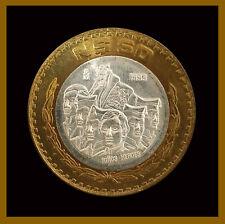 Mexico 50 Nuevos Pesos Coin, 1993 Commemorative Ninos Heroes Bimetallic Silver