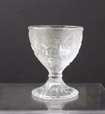 "Vintage Depression Clear Glass Sandwich Grape Leaf Ice Cream Dish 4 5/8"" Y28"