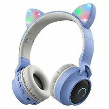 Cat Ear Bluetooth 5.0 Headphones Led Noise Cancelling Girls Kids Cute Headset Us