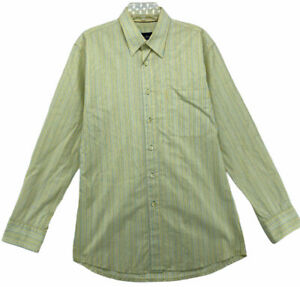 Indigo Palms by Tommy Bahama Men's Long Sleeve Shirt Size L Large Cotton Striped
