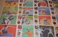 2012 LONDON OLYMPICS - FULL SET 50P BU COIN AND STAMP COVER FDC PNC