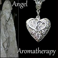 Essential Oil Diffuser Double Hearts Locket Necklace Aromatherapy U.S. Seller