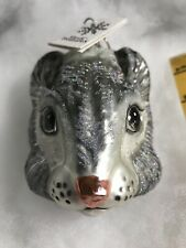 Slavic Treasures- Glass Ornament- Large- Gray Squirrel