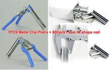 Metal Clip Pliers repairing rabbit duck bird wire Cages + 600pcs M shape nails
